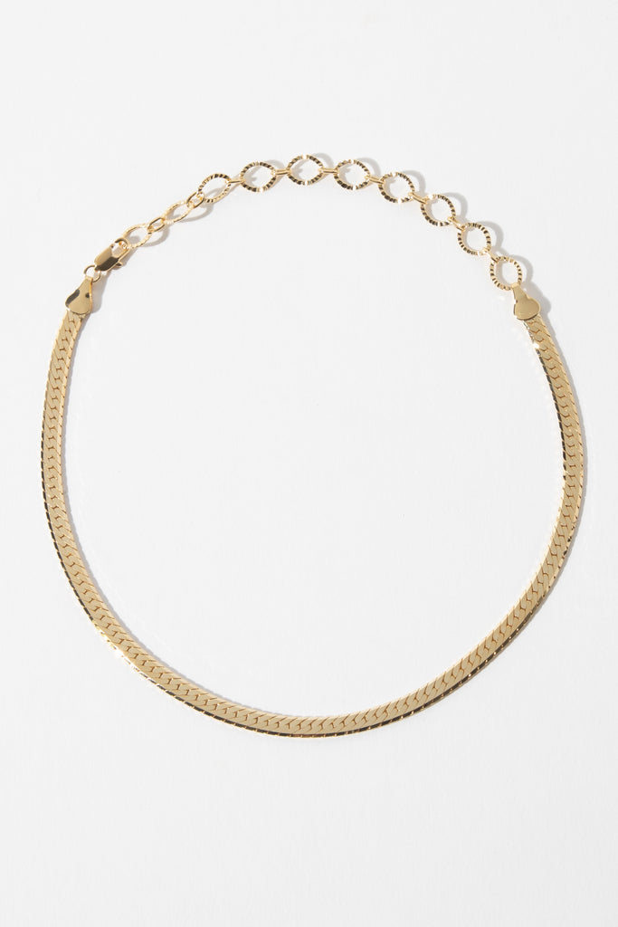Dona Italia Jewelry Gold / 12 Inches Sicily Herringbone Choker