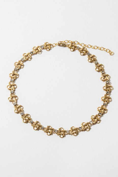 goddess Jewelry Gold Deco Carlu Necklace