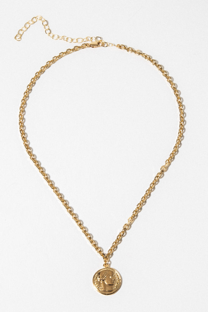 Dona Italia Jewelry Gold Golden Ruins Necklace