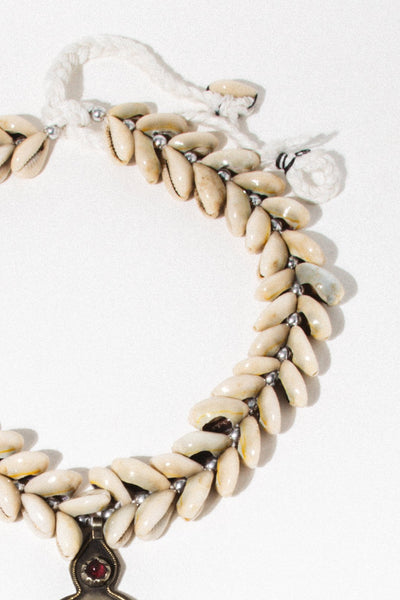 Child of Wild Jewelry Brass / 24 Inches Cowrie Shell Vintage Afghan Necklace