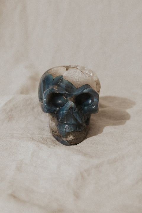 Child of Wild Objects Large / Blue + White / FINAL SALE Espiritu Large Crystal Skull