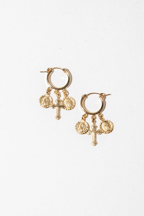 CGM Jewelry Gold Hail Mary Earring