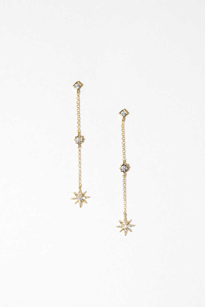 charis sale Silver / FINAL SALE Starburst Dangle Earrings