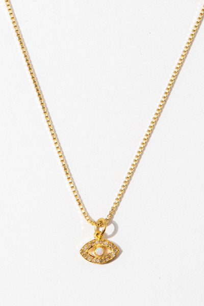 Tresor Jewelry Pavè Diamond Evil Eye Necklace