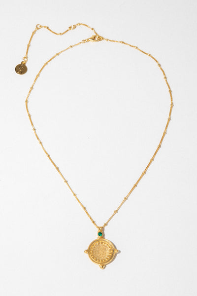Temple of the Sun Jewelry Gold Sura Necklace