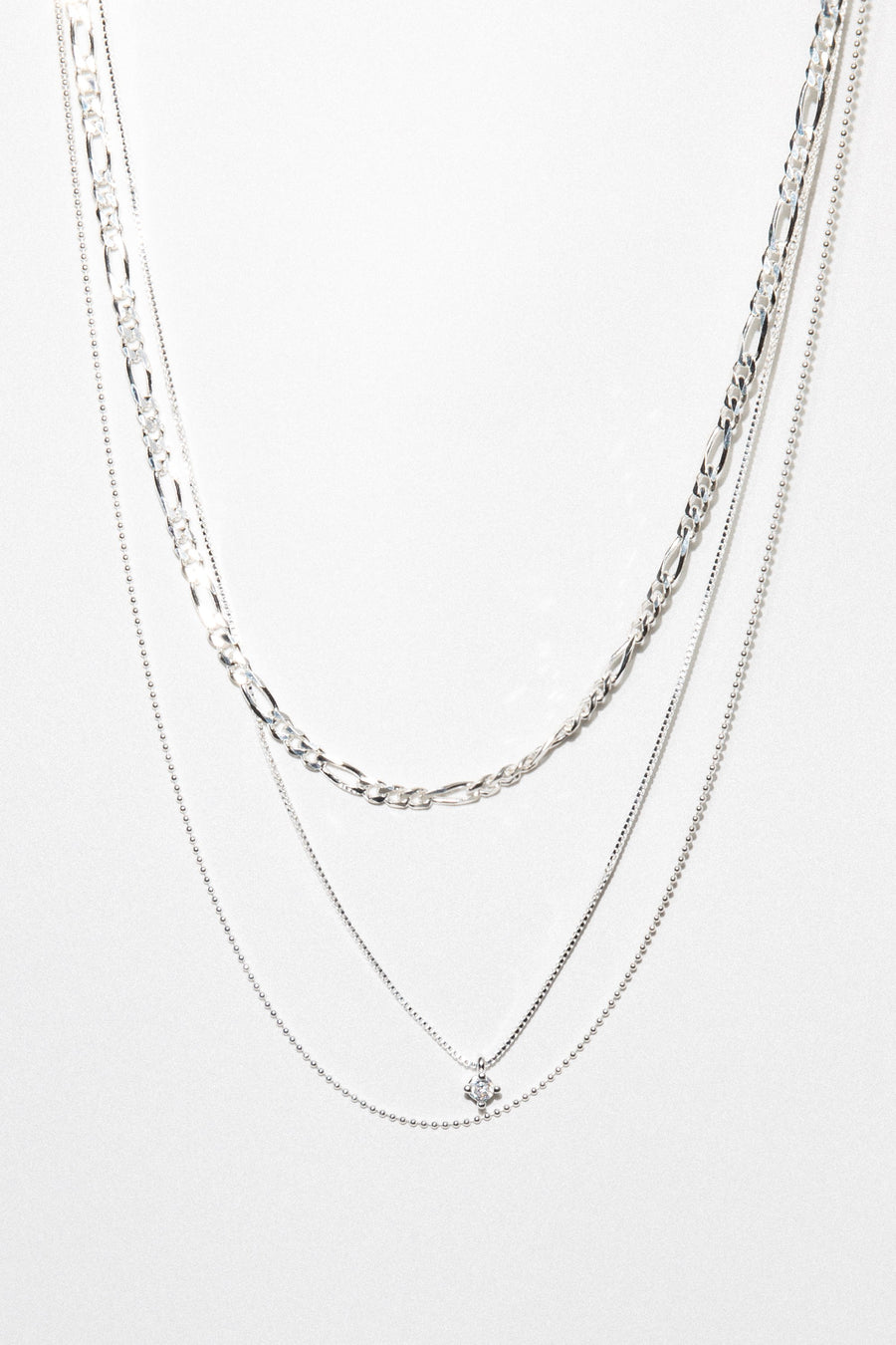 Dona Italia Jewelry Silver / 16 Inches Copy of Gilded Layered Necklace