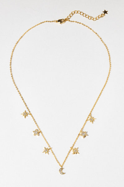 Celestial Stars and Moons Necklace