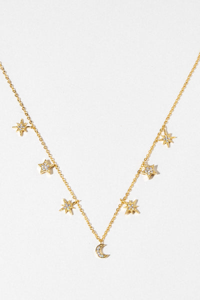 charis Jewelry Celestial Stars and Moons Necklace