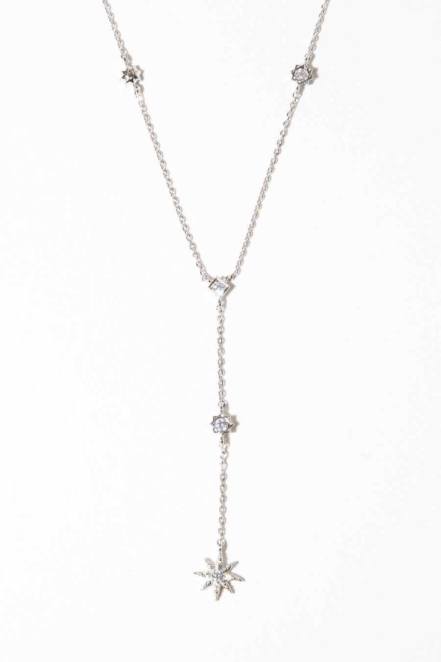charis Jewelry Silver / 16 Inches Stardust Lariat Necklace