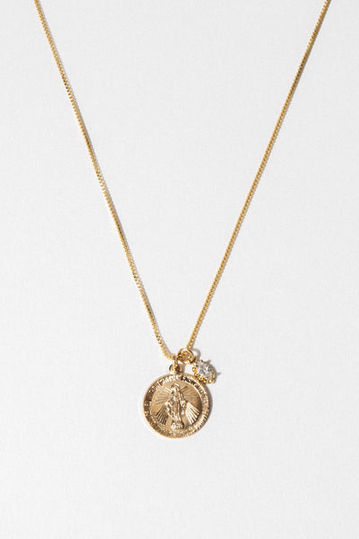 Dona Italia Jewelry 18 Inches / Gold Divine Mother Necklace