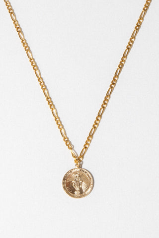 CGM Jewelry Gold / 20 Inches Pray for Us Mary Necklace