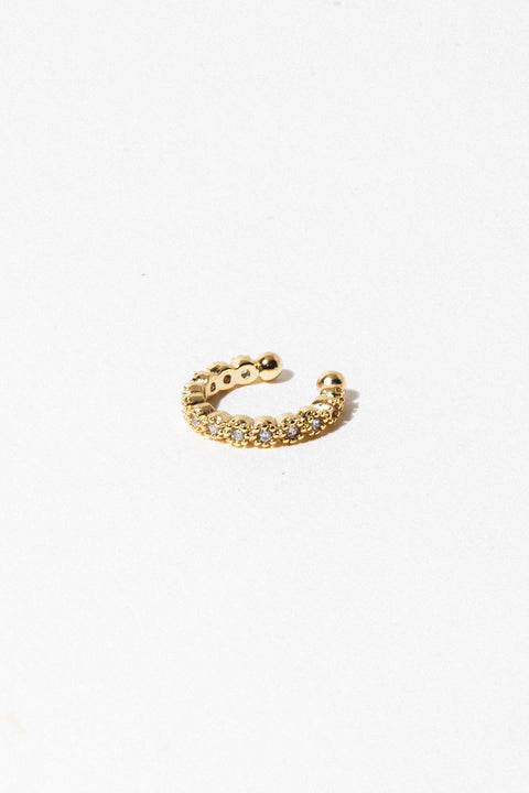 Aimvogue Jewelry Circle Diamondettes / Gold Circle Diamondette Ear Cuff