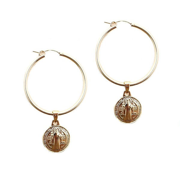 Dona Italia Jewelry Gold The Bennie Earrings