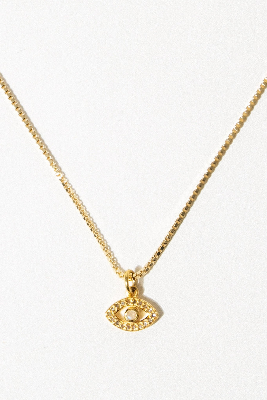 Tresor Jewelry Evil Eye Pavè Diamond Necklace