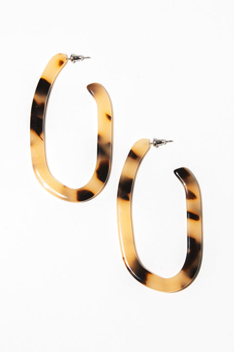 Machete Jewelry Blonde Tortoise Margot X Hoops