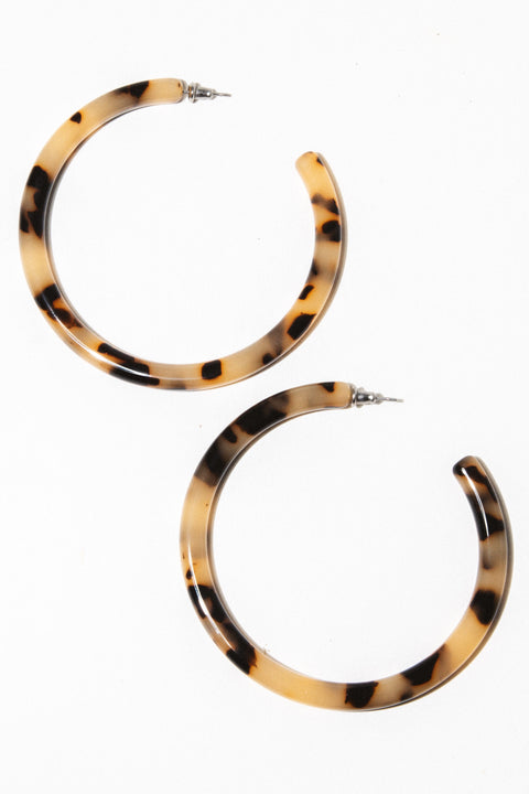 Machete Jewelry Blonde Tortise XL Tortoise Hoops