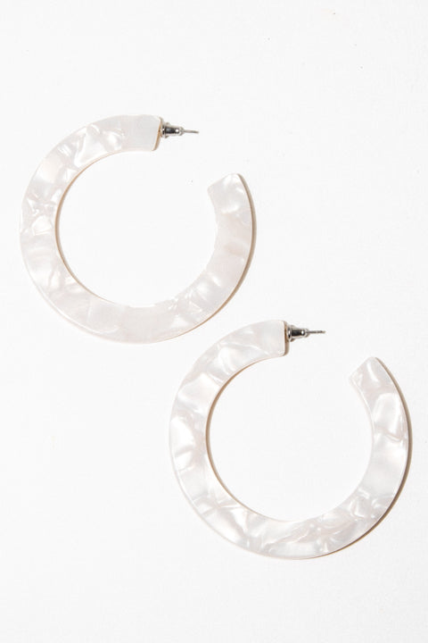 Machete Jewelry Pearl Pearl Grande Flat Hoops x Child of Wild