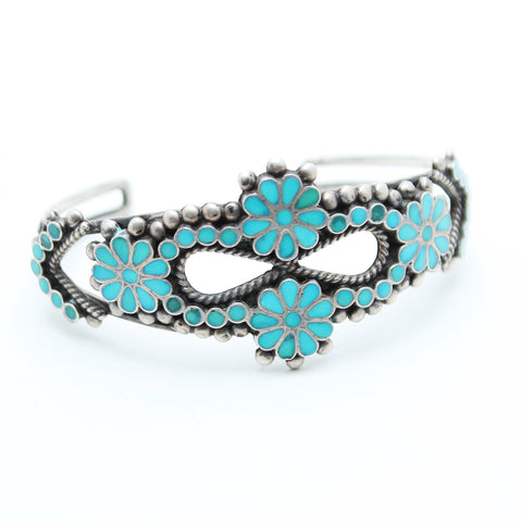 Lomasi Vintage Turquoise Cuff - Child of Wild  - 1