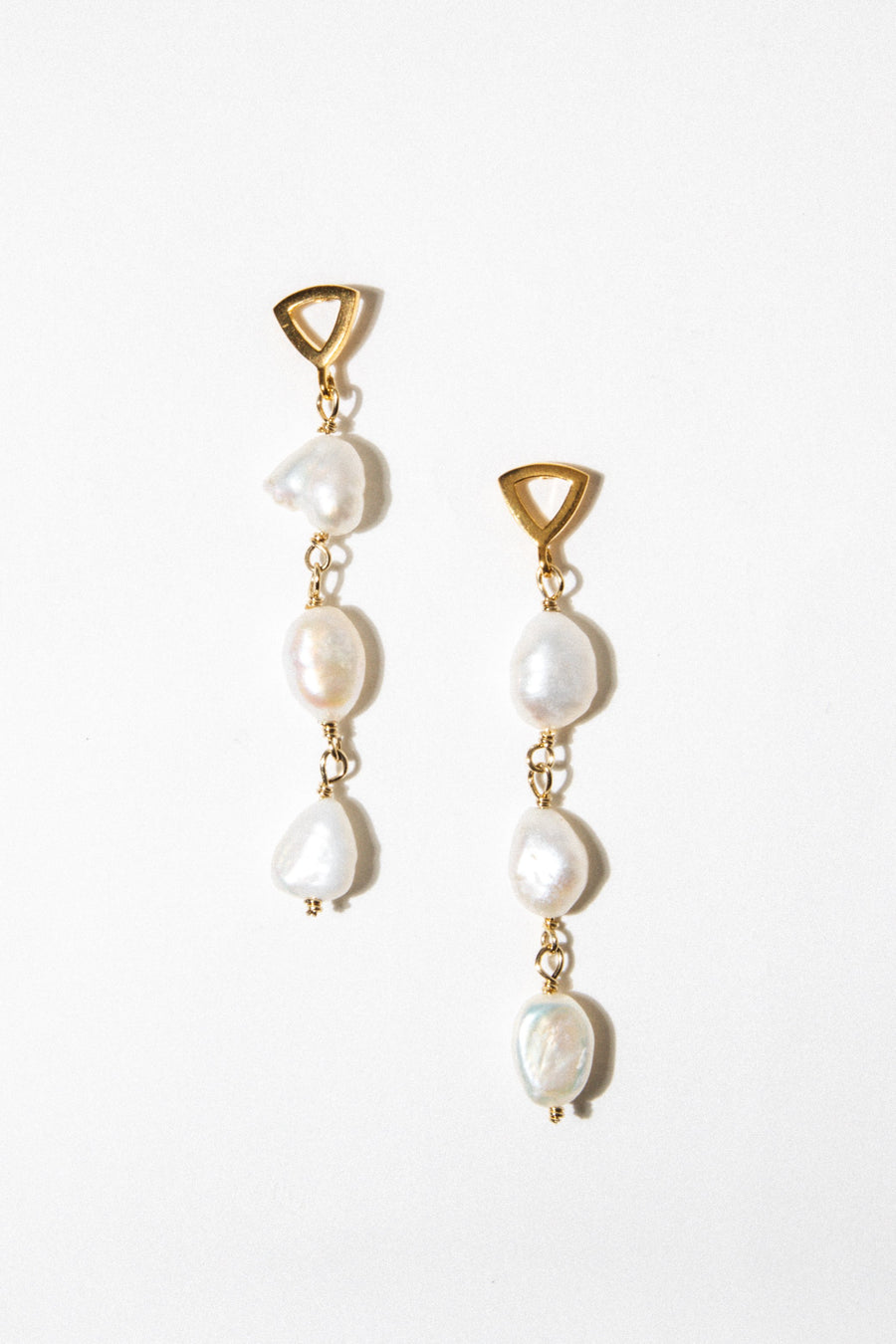 Beads Of Cambay Jewelry Gold Sun God Pearl Earrings