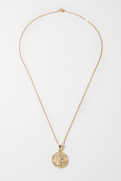 Dona Italia Jewelry Gold / 20 Inches Holy Traveler Necklace