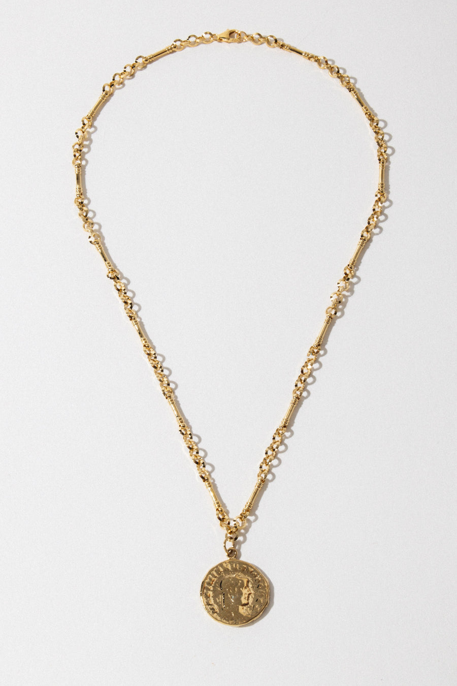 Goddess Jewelry Gold / 20 Inches Roma Coin Necklace
