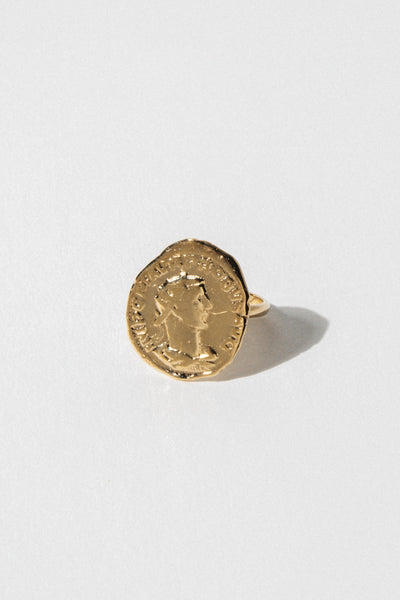 Goddess Jewelry Athena Coin Ring