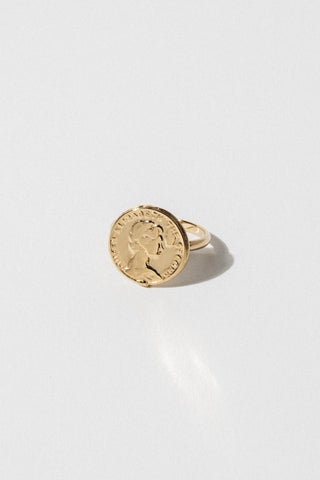 Goddess Jewelry Roman Coin Ring