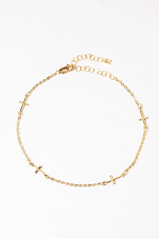 Goddess Jewelry Gold Crux Anklet