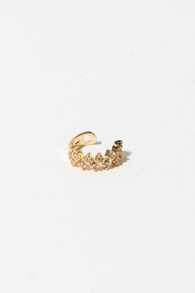 Dona Italia Jewelry Gold CZ Diamondete Ear Cuff
