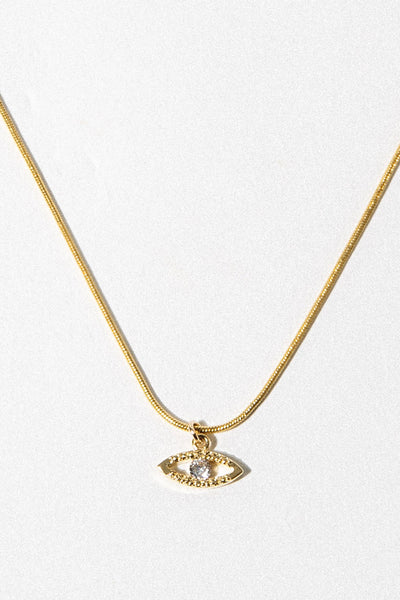 Aimvogue Jewelry 14 Inches / Gold Evil Eye Necklace