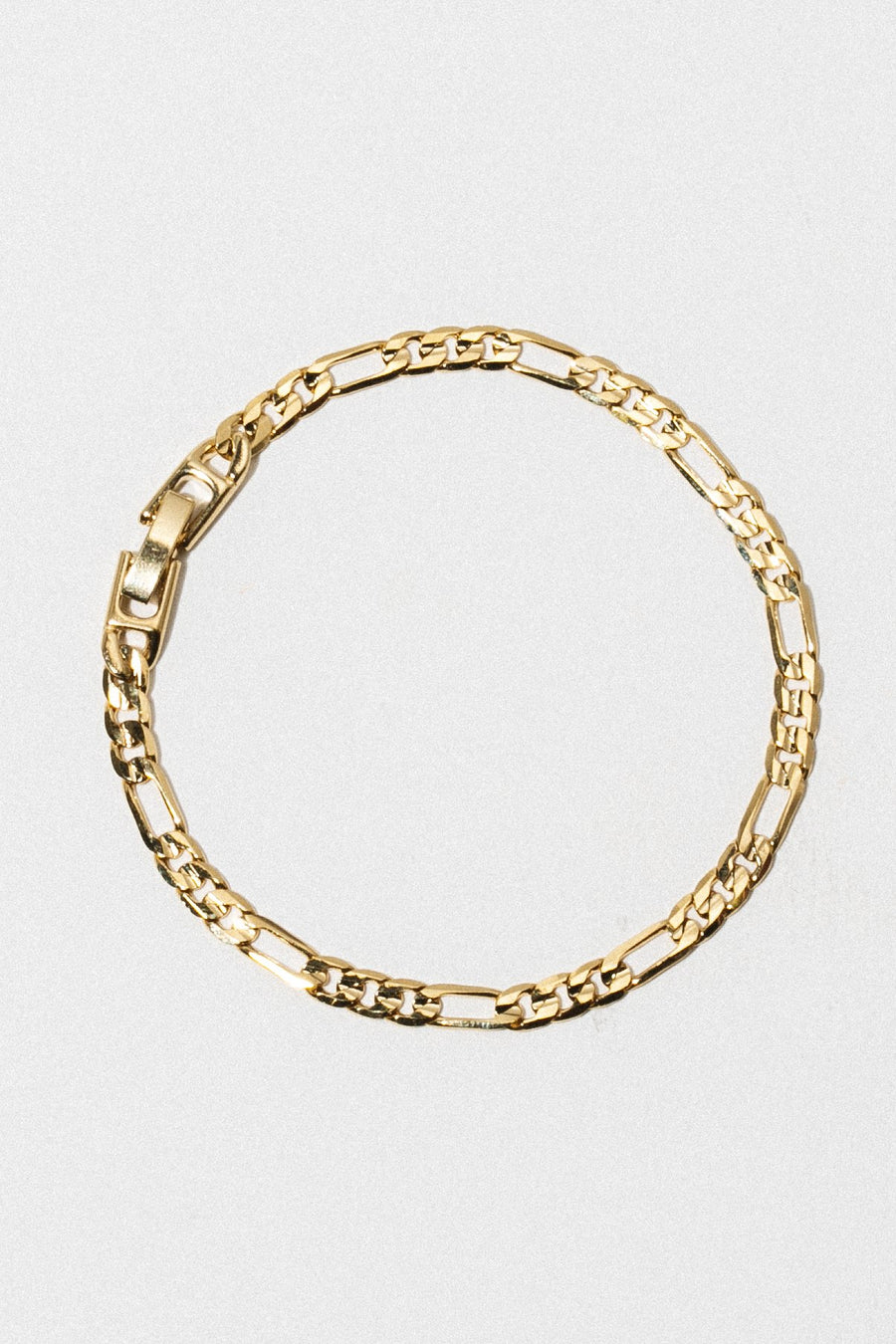 Sparrow Jewelry Gold Figaro Chain Bracelet