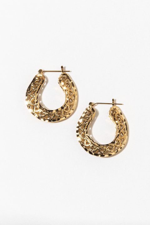 Goddess Jewelry Gold Lover's Club Earrings