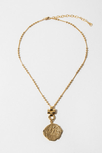 "goddess Jewelry Gold ""No Words"" Cross Necklace"