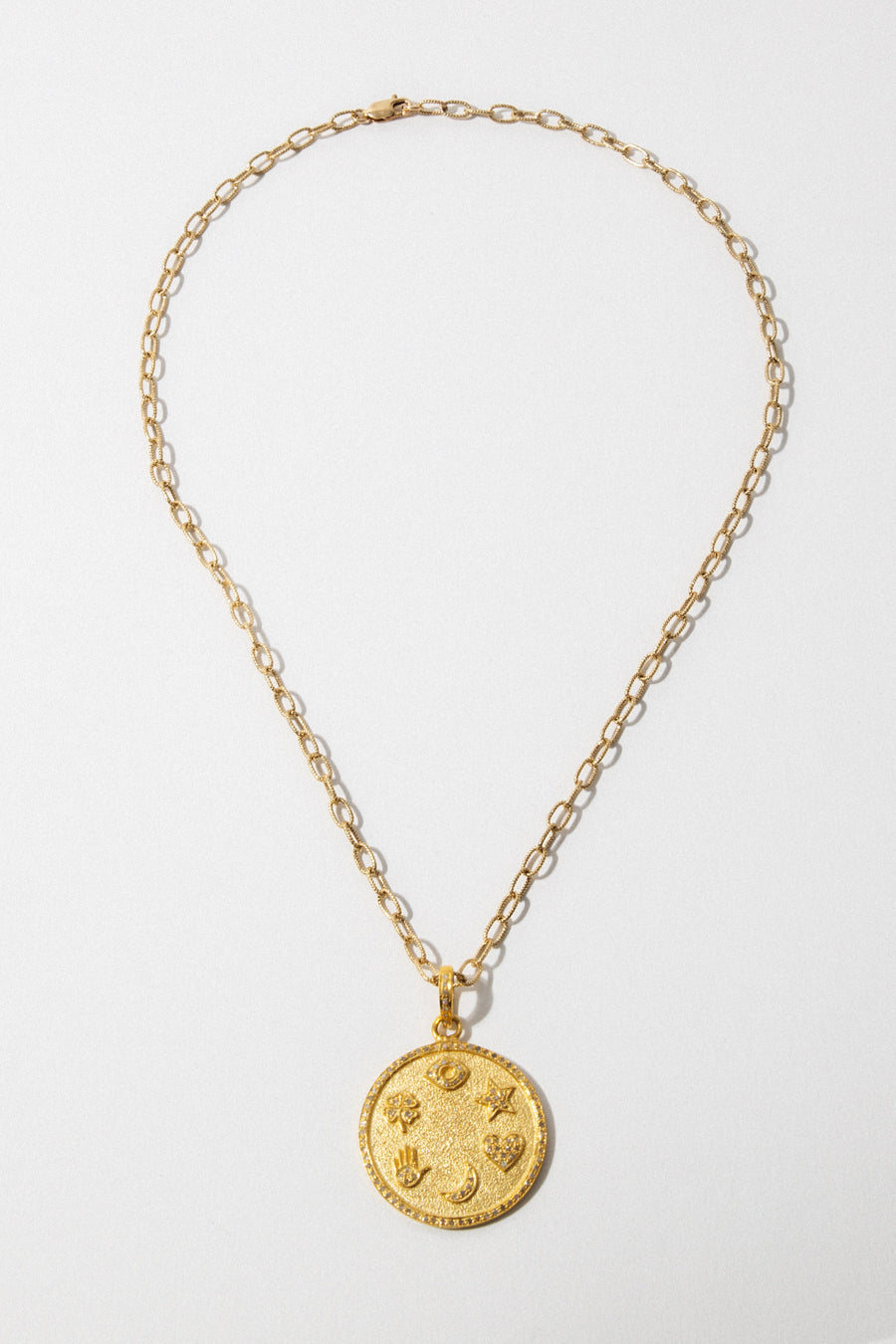 Child of Wild Jewelry Gold Diamond Medallion Necklace