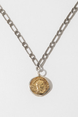 Goddess Jewelry Gold / 18 Inches Aurelian Coin Necklace