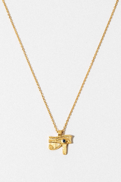 Temple of the Sun Jewelry Gold Eye of Horus Necklace