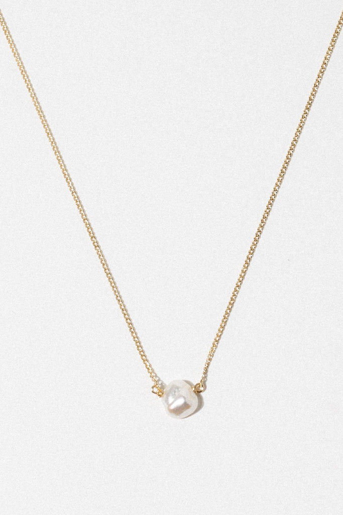 CGM Jewelry Gold / 14 Inches Pearl Drop Necklace