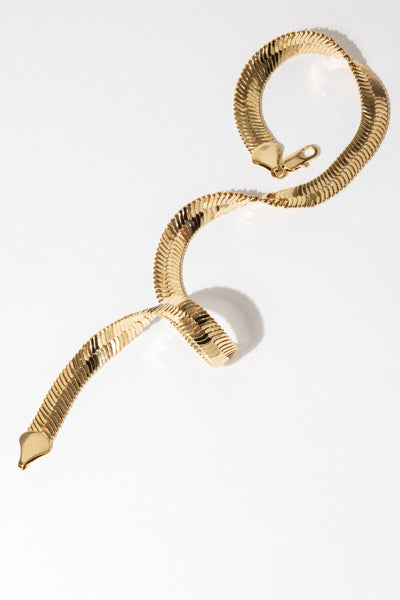 Sparrow Jewelry 18 Inches / Gold Serpent Necklace