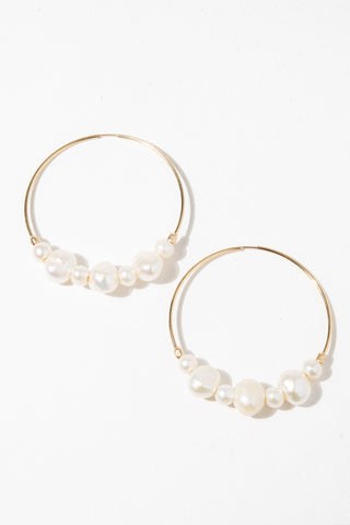 CGM Jewelry Gold Tefnut Pearl Earrings