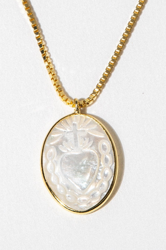 Dona Italia Jewelry Sacred Heart Pearl Necklace