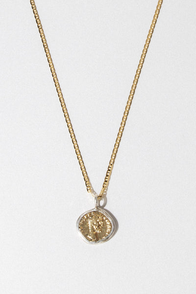 Dona Italia Jewelry Gold / 24 Inches Caesar Coin Necklace