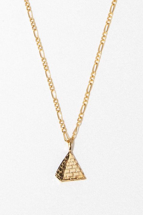 Goddess Jewelry Gold Unisex Pyramid Necklace