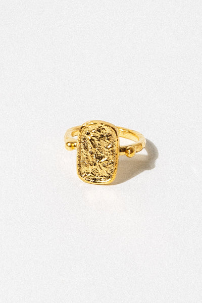 CAPRIXUS Jewelry US 6 / Gold Ancient Greek Signet Ring
