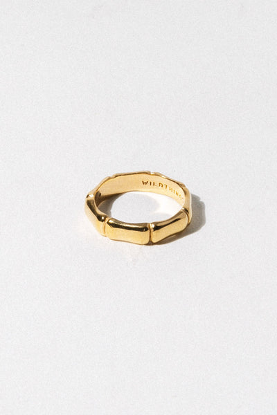 Wildthings Collectables Jewelry US 4 / Gold Bamboo Ring