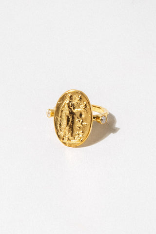 CAPRIXUS Jewelry US 8 / Gold Aphrodite Gold Ring