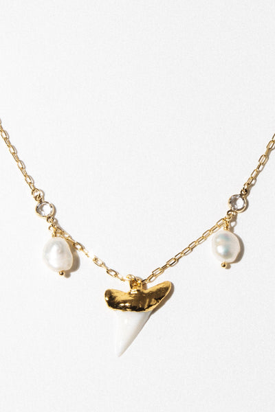 Goddess Jewelry Gold / 14 Inches Martello Pearl Necklace