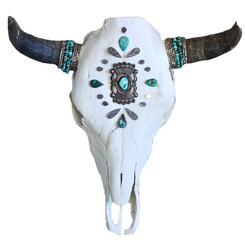 Child of Wild Bones Grey Sky Cow Skull