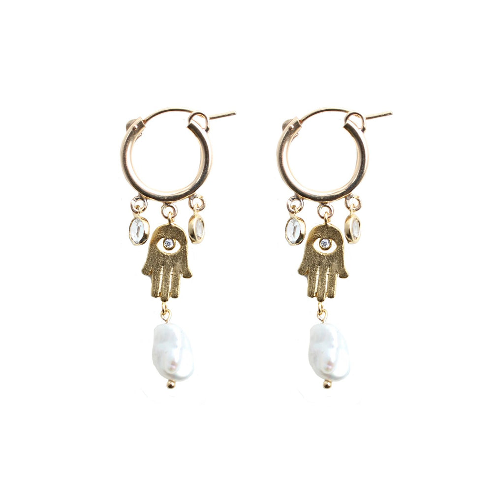 CGM Jewelry Gold Guardian Earrings
