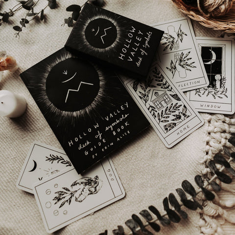 Erin Alise Objects Black Hollow Valley Deck of Symbols + Guidebook