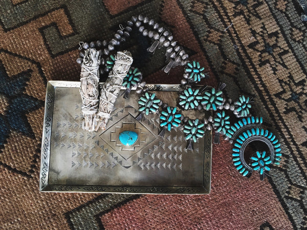 J. Alexander Objects Turquoise Treasure Tray